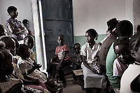 Agok, South Sudan. 20 March 2011...Women and children at a Sunday mass in a church of the village of Agok, the western state of Bahr el Ghaza..