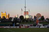 View of Downtown Sacramento from Raley Field. The San Jose Earthquakes defeated Chivas USA 6-5 in shootout after drawing 0-0 in regulation time to win the inagural Sacramento Cup at Raley Field in Sacramento, California on June 12, 2010.