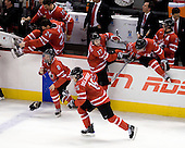 Alex Pietrangelo (Canada - 10), Jamie Benn (Canada - 24), Ryan Ellis (Canada - 8), Stefan Della Rovere (Canada - 15), Cody Goloubef (Canada - 17), Tyler Ennis (Canada - 22), Zach Boychuk (Canada - 11) - Canada defeated Sweden 5-1 (2 en) in the 2009 World Junior Championship gold medal game on Monday, January 5, 2009, at Scotiabank Place in Kanata (Ottawa), Ontario.  This was the second consecutive year that Canada won gold and Sweden won silver after Canada defeated Sweden in overtime in 2008 and was Canada's fifth consecutive gold.