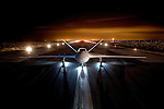"On a cold night somewhere in a Southern California desert, the Predator C ""Avenger"", built by General Atomics, is exposed to the camera for it's initial public unveiling."