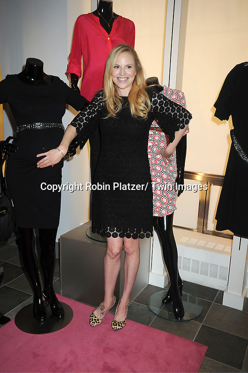 Rosie Pope and 2 mannequins makes a  personal appearance to debut the Rosie Pope collection for A Pea in the Pod at the Destination Maternity Store in New York City on June 28, 2012.
