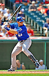 14 September 2008: Kansas City Royals' first baseman Ryan Shealy in action against the Cleveland Indians at Progressive Field in Cleveland, Ohio. The Royal defeated the Indians 13-3 to take the 4-game series three games to one...Mandatory Photo Credit: Ed Wolfstein Photo