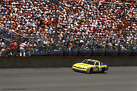 BROOKLYN, MI - JUNE 28: Dale Earnhardt drives his Wrangler Chevrolet during the Miller American 400 on June 28, 1987, at the Michigan International Speedway near Brooklyn, Michigan.