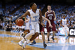 06 November 2015: North Carolina's Nate Britt (0). The University of North Carolina Tar Heels hosted the Guilford College Quakers at the Dean E. Smith Center in Chapel Hill, North Carolina in a 2015-16 NCAA Men's Basketball Exhibition game. UNC won the game 99-49.