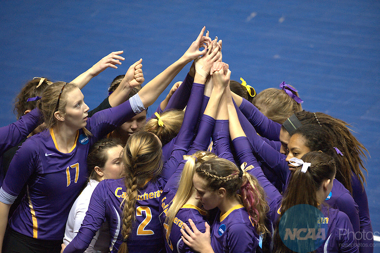 21 NOV 2015: The Division III Women's Volleyball Championship is held at Van Noord Arena on the Calvin University campus in Grand Rapids, MI. Erik Holladay/NCAA Photos