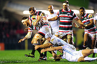 Brendon O'Connor of Leicester Tigers takes on the Exeter Chiefs defence. Aviva Premiership match, between Leicester Tigers and Exeter Chiefs on March 3, 2017 at Welford Road in Leicester, England. Photo by: Patrick Khachfe / JMP