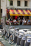 bike hire in Paris France in May 2008