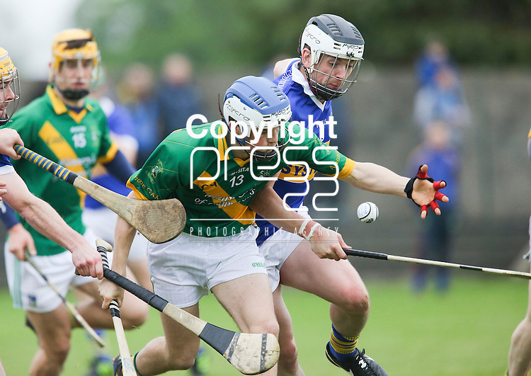 Ahane Paul O'Halloran &amp; Patrickswell Eoin Mcnamara in action during their Senior Hurling Championship Round 1 Game played in Bruff Co.Limerick.<br /> Pictured Credit Brian Gavin Press 22