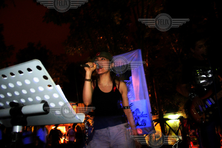 It is illegal and punishable by death for a female to sing in public. At this concert maral was arrested and detained for 3 days before being released without charges.