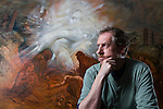Artist Peter Howson in his Glasgow studio...