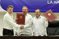Firma cese fuego / Signing ceasefire, Colombia - Farc, 23-06-2016
