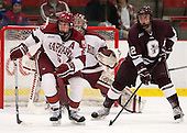 Dan Ford (Harvard - 5), Kyle Baun (Colgate - 12) - The Harvard University Crimson defeated the Colgate University Raiders 4-1 (EN) on Friday, February 15, 2013, at the Bright Hockey Center in Cambridge, Massachusetts.