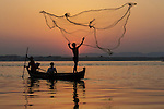 Fishermen, Irrawaddy River, Myanmar
