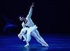 English National Ballet<br /> Swan Lake in-the-round  <br /> Royal Albert Hall, London, Great Britain <br /> 31st May 2016  <br /> rehearsals <br /> <br /> Alina Cojocaru as Odette/Odile<br /> <br /> Osiel Gouneo as Prince Siegfried<br /> <br /> <br /> Photograph by Elliott Franks <br /> Image licensed to Elliott Franks Photography Services
