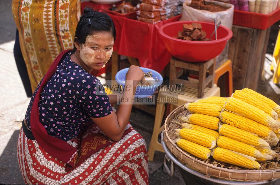 Asie/Birmanie/Myanmar/Yangon: Marché Bogkyore Aung San