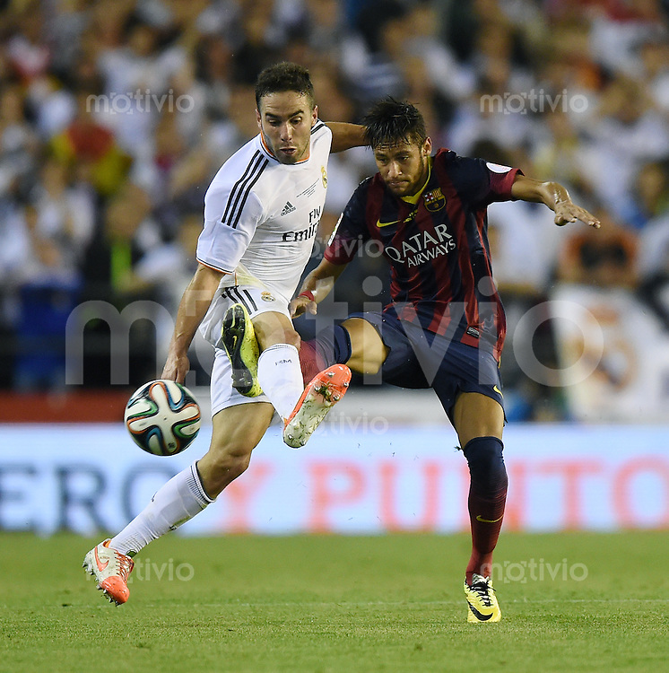 FUSSBALL  INTERNATIONAL Copa del Rey FINALE  2013/2014    FC Barcelona - Real Madrid            16.04.2014 Daniel Carvajal (li, Real Madrid) gegen Neymar (Barca)