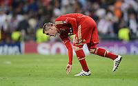 FUSSBALL   CHAMPIONS LEAGUE SAISON 2011/2012  HALBFINALE  RUECKSPIEL      Real Madrid - FC Bayern Muenchen           25.04.2012 Bastian Schweinsteiger (FC Bayern Muenchen) enttaeuscht