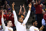 MILWAUKEE, WI - MARCH 18: The Iowa State Cyclones bench signals a made three-point basket during the first half of the 2017 NCAA Men's Basketball Tournament held at BMO Harris Bradley Center on March 18, 2017 in Milwaukee, Wisconsin. (Photo by Jamie Schwaberow/NCAA Photos via Getty Images)