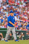 15 June 2016: Chicago Cubs Manager Joe Maddon walks out to the mound during a game against the Washington Nationals at Nationals Park in Washington, DC. The Cubs fell to the Nationals 5-4 in 12 innings, giving up the rubber match of their 3-game series. Mandatory Credit: Ed Wolfstein Photo *** RAW (NEF) Image File Available ***