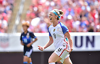 Cleveland, Ohio - June 5, 2016: The USWNT go up 1-0 over Japan from a Julie Johnston goal in first half action during in an international friendly at FirstEnergy Stadium.