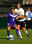 31 August 2007: University of Central Arkansas Sugar Bears' Tara Garza, a Sophomore from Grapevine, Texas, in action against the University of Vermont Catamounts at Historic Centennial Field in Burlington, Vermont. The Catamounts defeated the Sugar Bears 1-0 during the TD Banknorth Soccer Classic...Mandatory Photo Credit: Ed Wolfstein Photo