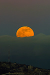 Full moonrise over Queen Anne in Seattle.  ©2013. Jim Bryant Photo. All Rights Reserved.