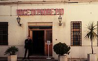 """San Giovanni Rotondo.L'ingresso della sede del periodico dei Frati minori Cappuccini """"La Voce di padre Pio"""".San Giovanni Rotondo.The entrance to the headquarters of the periodical of the Minor Capuchin Friars """"The Voice of Padre Pio"""