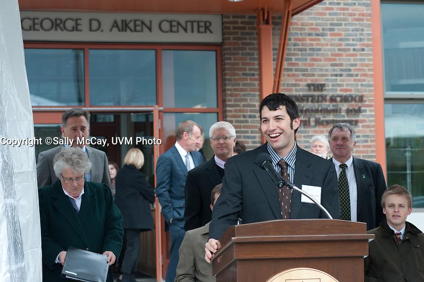 The George D. Aiken Center dedication ceremony.  Lola Aiken.