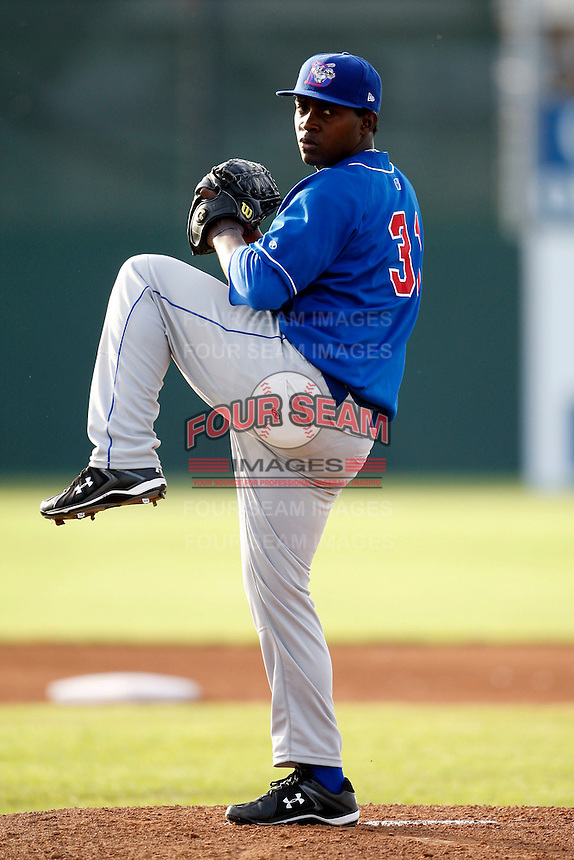 June 19, 2009:  Pitcher Joel Carreno of the Auburn Doubledays during a game at Dwyer Stadium in Batavia, NY.  The Doubledays are the NY-Penn League Short-Season A affiliate of the Toronto Blue Jays.  Photo by:  Mike Janes/Four Seam Images