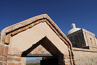"""Tumacacori, Arizona - The Mission San Jose de Tumacacori was established in January 1691 by Jesuit Father Eusebio Francisco Kino. The mission is located on 310 acres at the town of Tumacacori, Arizona, 50 miles south of the City of Tucson, Arizona, and 18 miles north of the international border with Mexico at Nogales, Arizona/Sonora. The mission is part of the Tumacacori National Historical Park. According to experts on the subject, it is probable that the name """"Tumacacori"""" is derived from two O'odham words, """"chu-uma"""" and """"kakul,"""" which refer to a flat, rocky place. Father Eusebio Kino established this mission in January 1691, which makes it the oldest mission site in Arizona. Photo by Eduardo Barraza © 2011"""