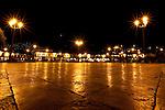 The Plaza de Armas in Cusco Peru at night