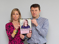 Kate and Gerry McCann show an artist's impression of what Madeleine might look like aged 9