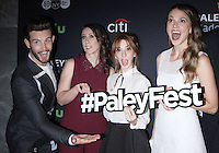 NEW YORK, NY - OCTOBER 10: Nico Tortorella, Miriam Shor, Molly Bernard and Sutton Foster at PaleyFest New York's presentation of Younger at the Paley Center for Media in New York City on October 10, 2016. Credit: RW/MediaPunch