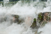 Thermal activity at Craters or the Moon geothermal area in Wairakei Tourist Park, Lake Taupo, New Zealand