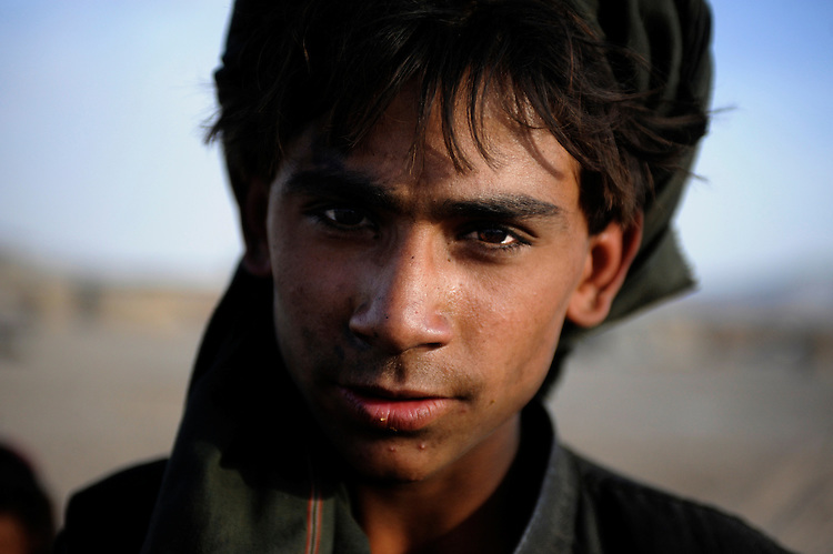 Portrait of a Taliban boy in Kandahar, Afghanistan.