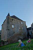 Castle in France with children