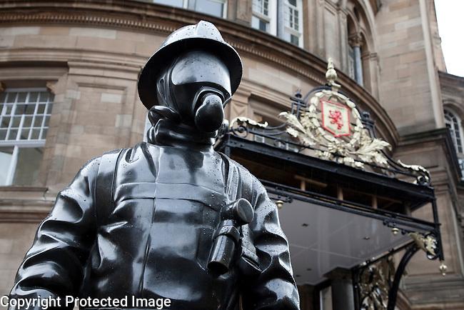 Firemen Memorial in Gordon Street in Glasgow, Scotland
