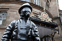 Firemen Memorial in Gordon Street in Glasgow, Scotland