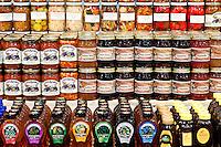 Preserved Pennsylvania Dutch foods in Reding Terminal Market, Philadelphia, PA, Pennsylvania