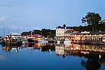 The harbour township of Strahan at dawn.  Strahan, Tasmania, AUSTRALIA