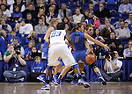 UK guard Bernisha Pinkett passes to forward/center Samarie Walker during the first half of the women's basketball game v. Depaul University in Rupp Arena in Lexington, Ky., on Sunday, December 7, 2012. Photo by Genevieve Adams | Staff