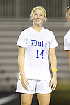 29 September 2011: Duke's Erin Koballa. The Duke University Blue Devils and the University of Virginia Cavaliers played to a 0-0 tie after overtime at Koskinen Stadium in Durham, North Carolina in an NCAA Division I Women's Soccer game.