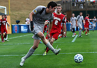 HOOVER, AL - DECEMBER 09, 2012: Eriq Zavaleta (2) of Indiana University watches Andy Riemer (20) of Georgetown University make a pass during the NCAA 2012 Men's College Cup championship, at Regions Park, in Hoover , AL, on Sunday, December 09, 2012.