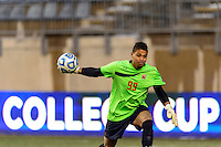 Maryland Terrapins goalkeeper Zack Steffen (99). The Notre Dame Fighting Irish defeated the Maryland Terrapins 2-1 during the championship match of the division 1 2013 NCAA  Men's Soccer College Cup at PPL Park in Chester, PA, on December 15, 2013.