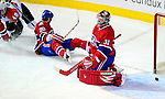 7 December 2009: Montreal Canadiens' goaltender Carey Price gives up a first period goal to the Philadelphia Flyers at the Bell Centre in Montreal, Quebec, Canada. The Canadiens rallied, and defeated the Flyers 3-1. Mandatory Credit: Ed Wolfstein Photo