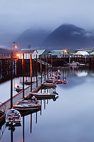 Wharfs and Ocean Beauty Seafoods Cannery, North Harbor, Petersburg, Alaska, USA