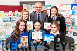 Pictured on Monday last at the Kerry ETB Offices, John Joe Sheehy Road, Tralee, are the students who took part in the Kerry ETB Christmas Card Competition l-r: Kayla Whooley (runner up, Castleisland Community College), Laura McCormick (overall winner,Colaiste na Sceilge, Caherciveen), Caoimhe Shine (runner up, Coláiste na Ríoctha, Listowel), Melanie Smith (runner up, Coláiste Gleann Lí runner up), Colin McEvoy (CEO Kerry ETB) and Guendalina Colangelo (runner up, Coláiste na Ríochta, Listowel).