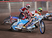 Heat 4 - Ulamek (green), Shields (red) - Lakeside Hammers vs Swindon Robins - Sky Sports Elite League at Arena Essex, Purfleet - 17/08/07  - MANDATORY CREDIT: Gavin Ellis/TGSPHOTO - SELF-BILLING APPLIES WHERE APPROPRIATE. NO UNPAID USE. TEL: 0845 094 6026..