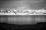 Infrared image of the Guadalquivir river bank, Seville, Spain