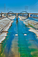 6th Street Bridge, LA River, East LA, Los Angeles, CA